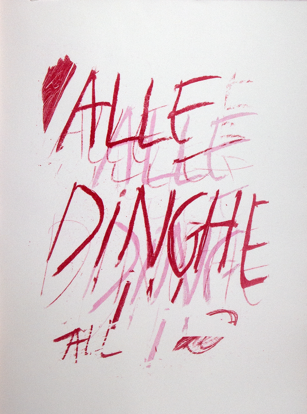 title page from the  portfolio 'Alle Dinghe'  containing 6 lithographs