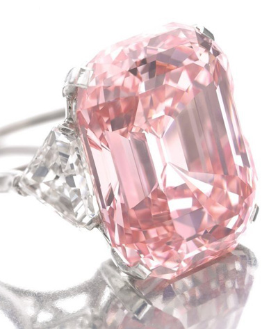 The Graff Pink, the most expensive pink diamond ever sold at auction.