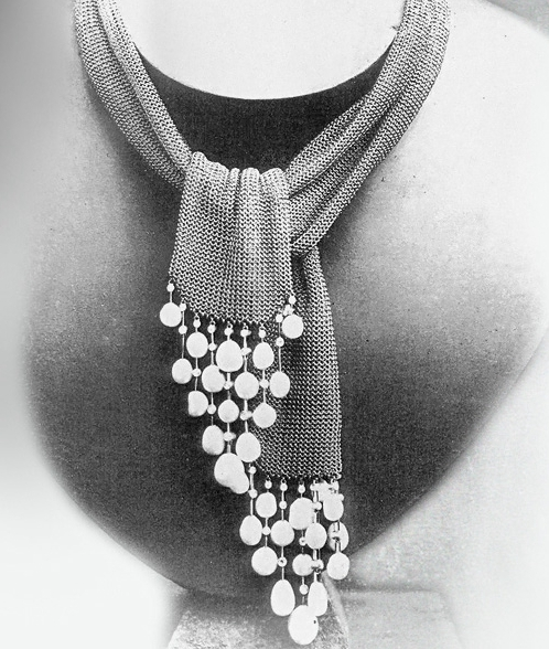 Archive photograph of the pearl and gold wrap necklace bought by the Grand Duke Vladimir in 1883, which inspired the Delilah necklace.