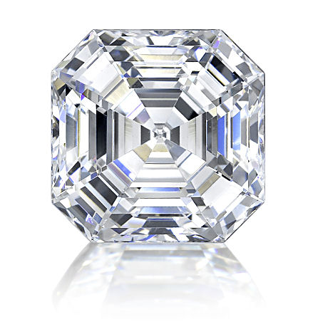 A superb Asscher cut diamond.  The large table facet and parallel lines make it much harder to hide inclusions.