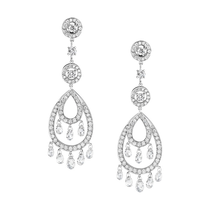 The new: Cinna Pampille earrings by Boucheron.