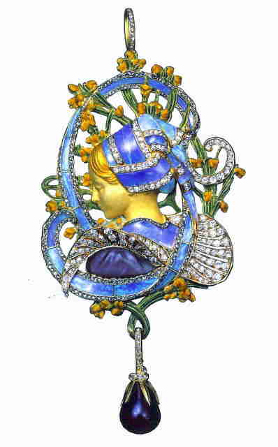 A masterful use of cut opal in an Art Nouveau jewel by Henry Vever.