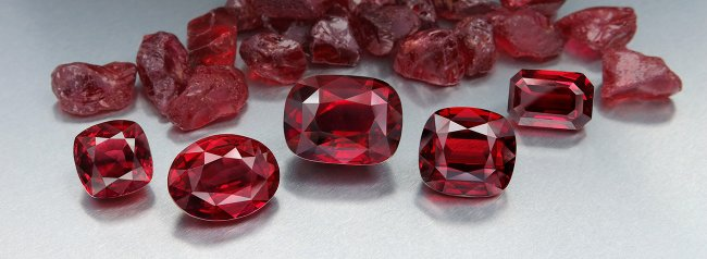 Exceptional quality rubies.