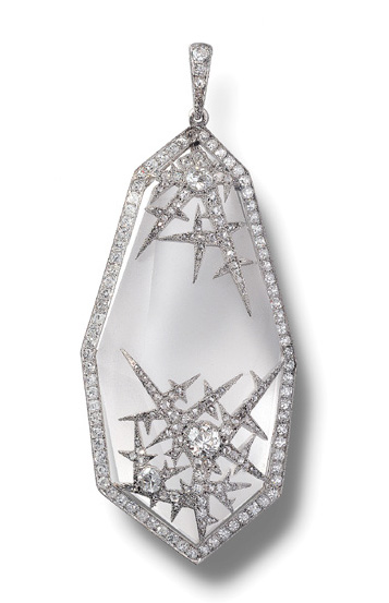 Rock crystal and diamond ice pendant, one of many created by  Fabergé for Dr. Emanuel Snowman to gift at dinner parties.