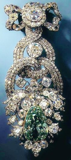 The biggest, most famous green diamond in the world: the Dresden Green, weighing 41 carats.