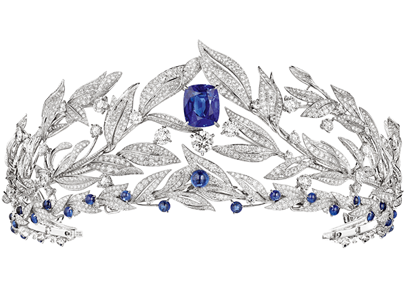 Chaumet's 'Firmament Apollinien' sapphire and diamond tiara, from its new 'La Nature de Chaumet' high jewellery collection.