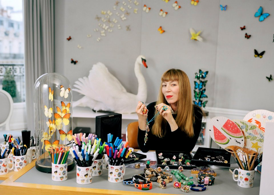 Victoire de Castellane, Creative Director of Dior Joaillerie, at her Paris studio.