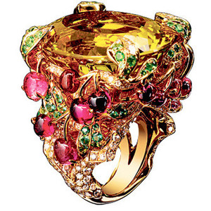 Citrine and multi colour stone ring by Dior Jewellery.