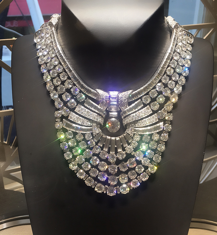 The Van Cleef and Arpels necklace made in 1939 for Queen Nazli of Egypt.  It contains 673 diamonds and was sold at Sotheby's in 2015 for over $4.2 million.