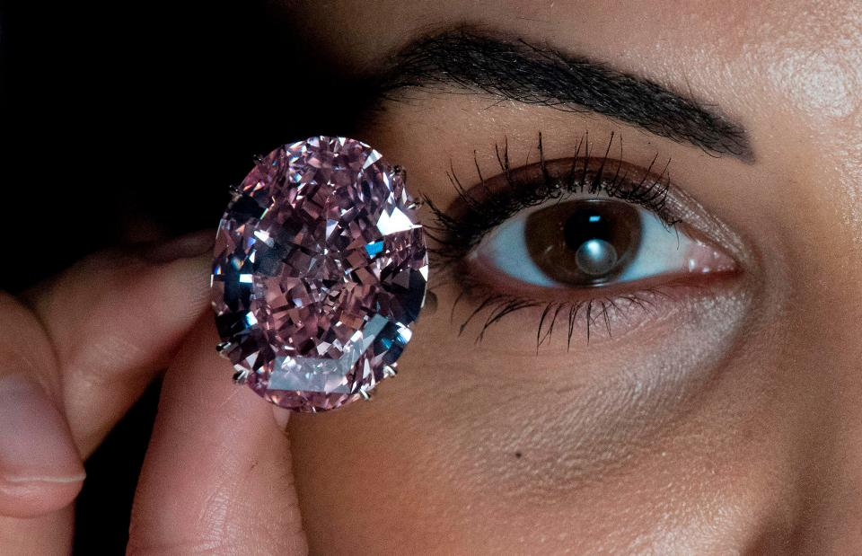 The 59.60 carat Pink Star diamond. the most expensive gemstone in the world.