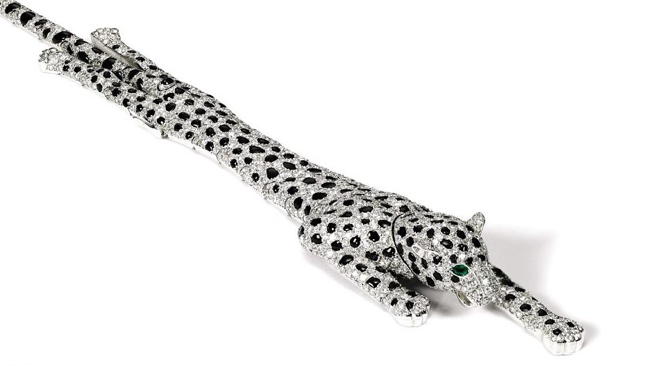 The highly articulated panther bracelet made by Cartier for the Duchess of Windsor.