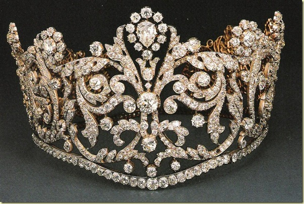 The Empress Josephine's diamond coronation tiara.