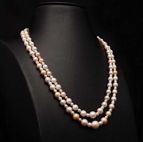 Pearl necklace by Mattar Jewelers.  The quality of their pearls is impossible to convey photographically.