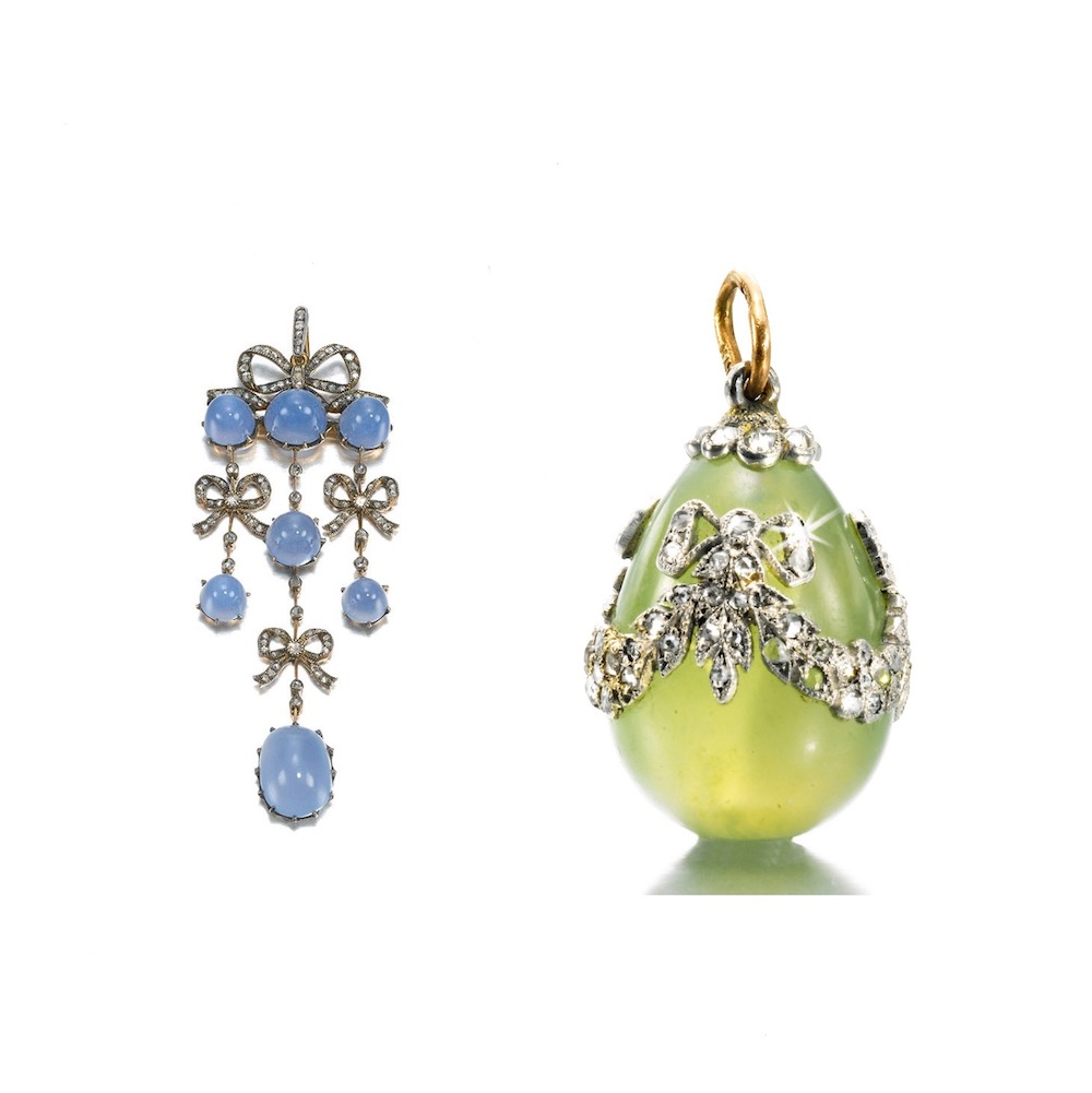 Work by Faberge showing some of the techniques and materials that inspired my earrings.