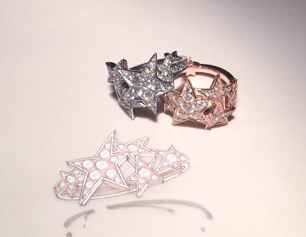 The starburst rings with their original designs.