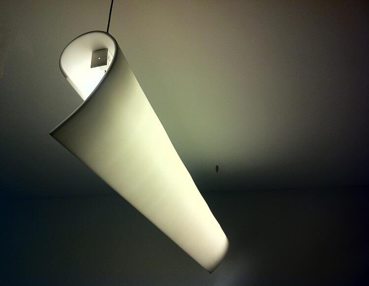Paper Light Light Fixture Design for an office