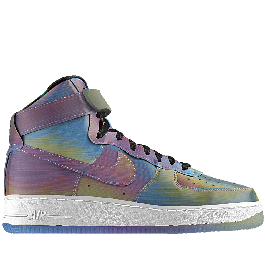 "Another great thing about Nike is the online customisation tool ""iD"" which means you can take a pair of classics like the Air Force Ones and turn them into a futuristic statement complete with colour changing material."