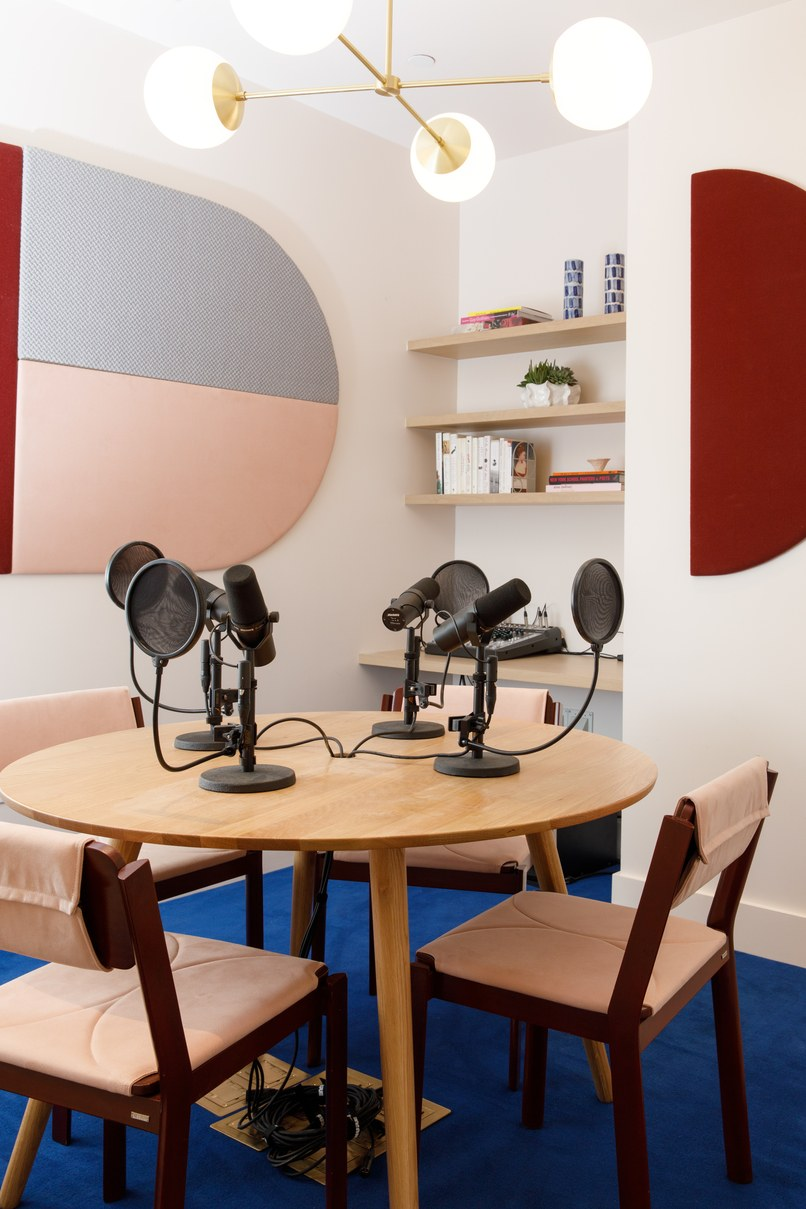 Photography: The Wing podcast room