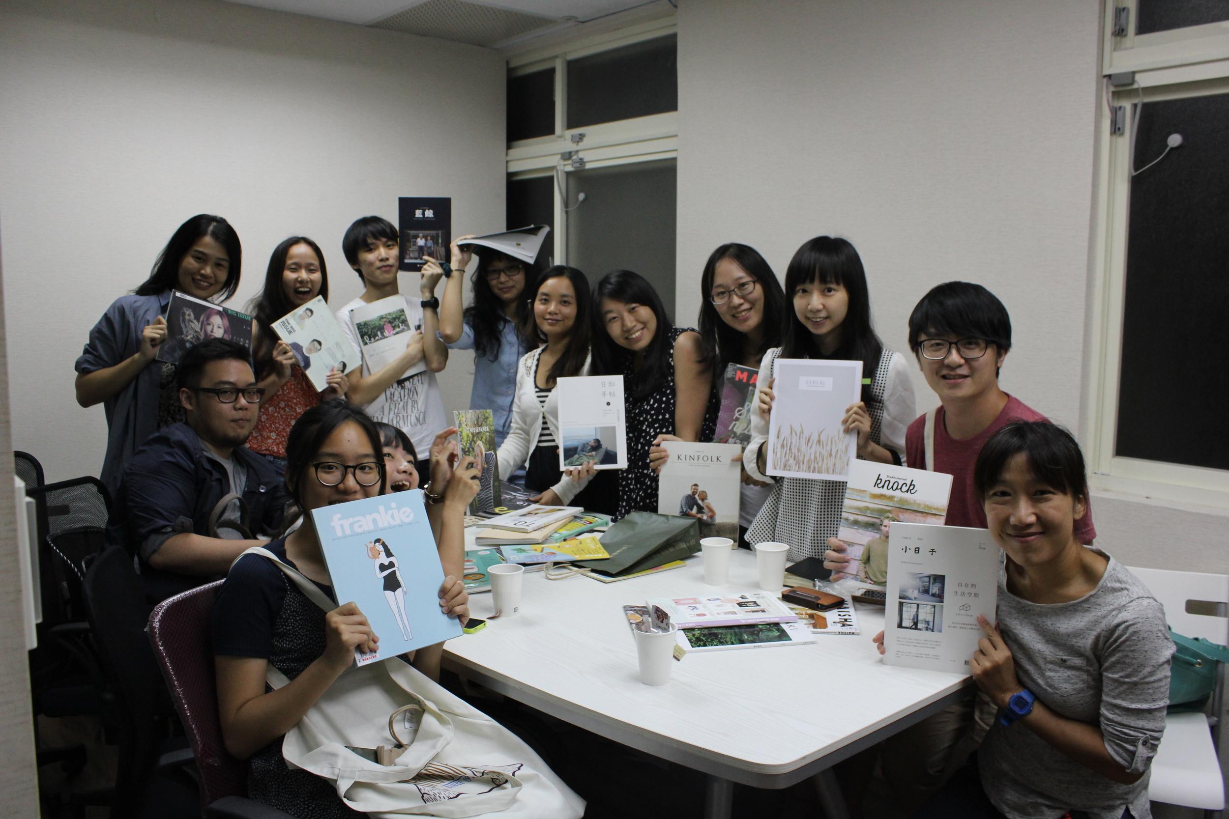 雜誌上癮俱樂部實體聚會「翻雜誌」在《小日子》編輯部舉辦的活動,邀請編輯、讀者、學生、上班族一同歡聚。