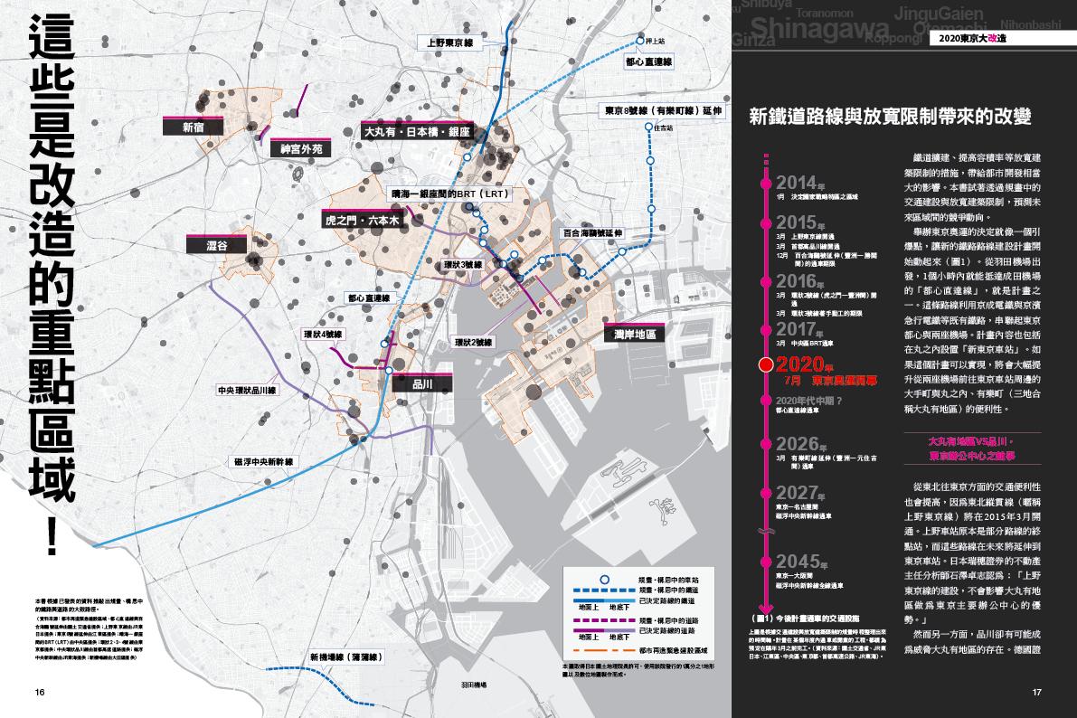 未來東京的都市開發重點區域大關注。 ©圓神出版