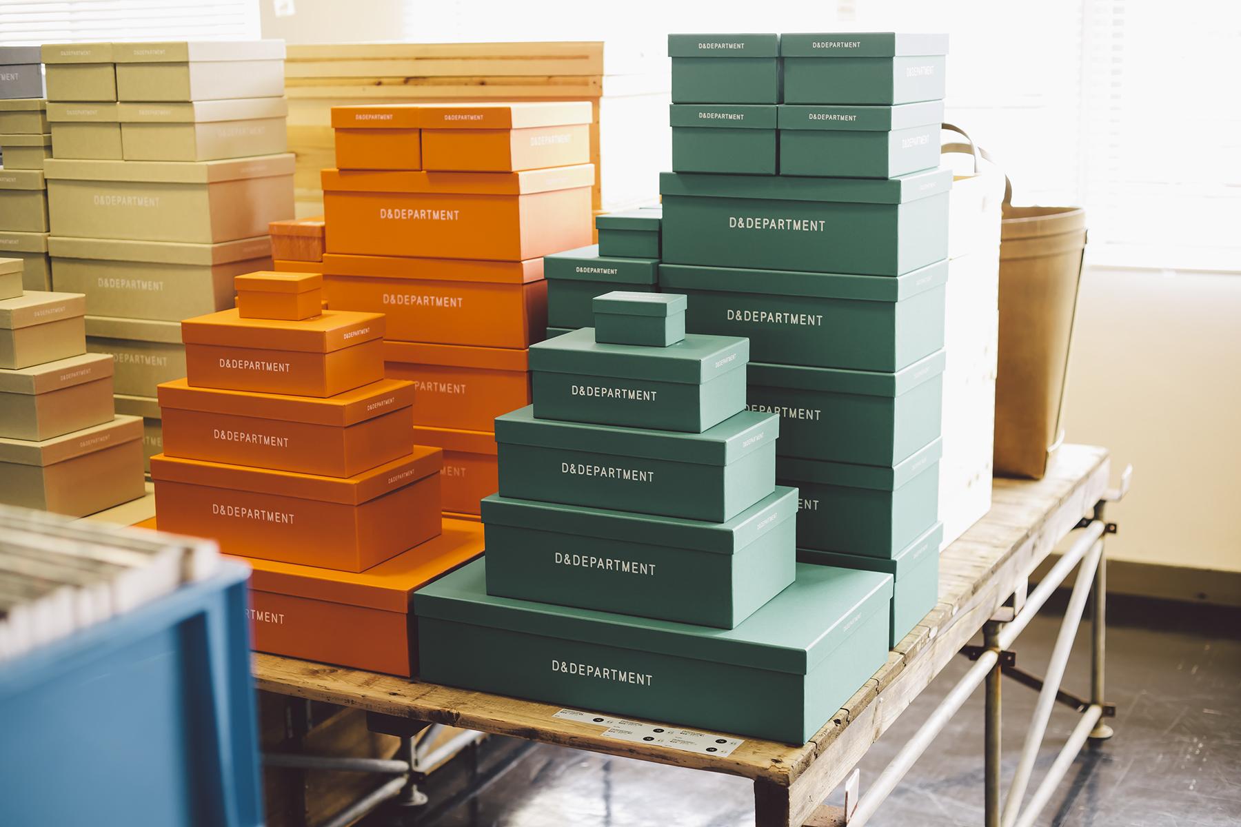 D&D熱賣的鞋盒產品,包括孩童、女鞋、男鞋、靴子,與名片大小的標準尺寸,透過使用轉換,讓老工廠再次重生新價值。