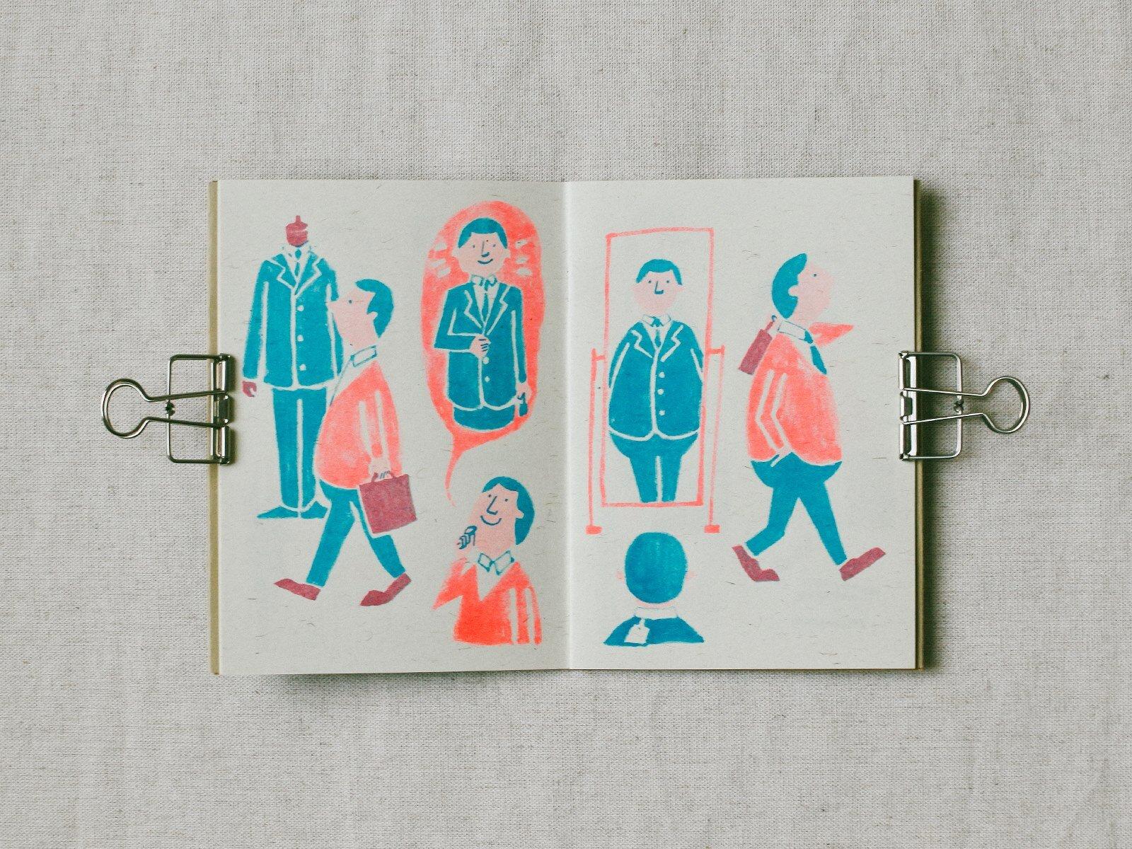 InkSundae多數作品使用Risograph孔版印刷,創造錯位的美感 l 誠品R79小誌市集.jpg