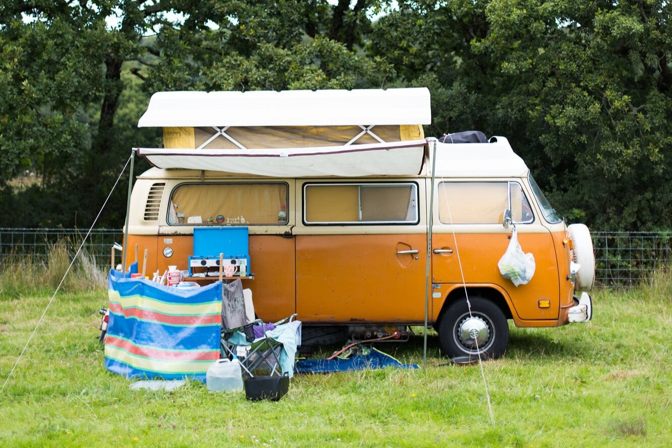 Campervan/camping - 5x8m pitchNo hook-upsUse of fforest showers & toiletsSleeps up to 4£90 per pitch