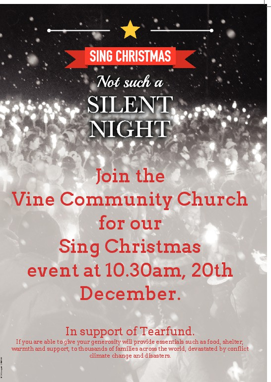 Invite a friend to our Christmas Carol service on the 20th December at 10.30am