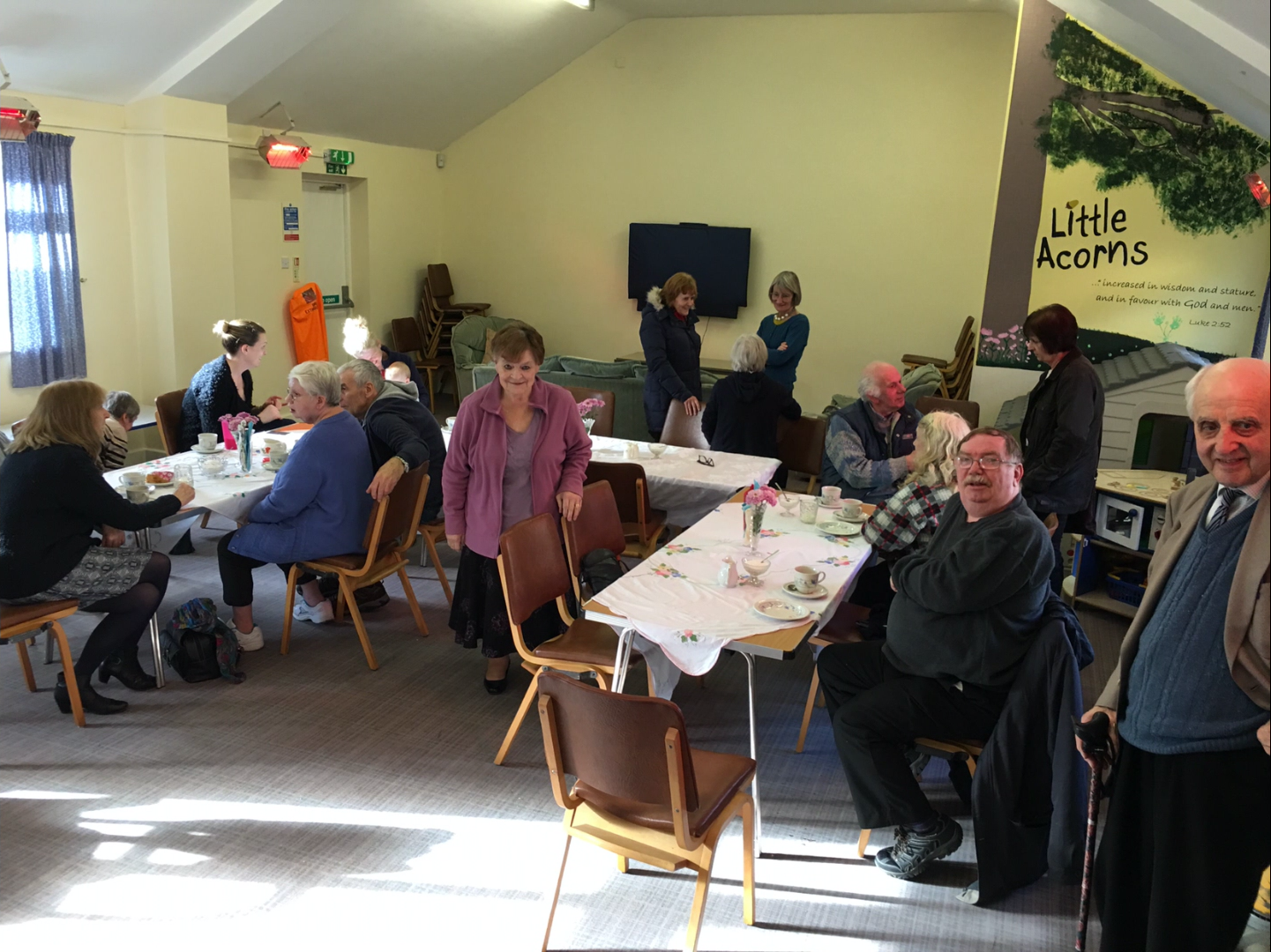 Good fellowship and a super opportunity to 'chillax'! (Lovely cakes and sausage rolls too!!)