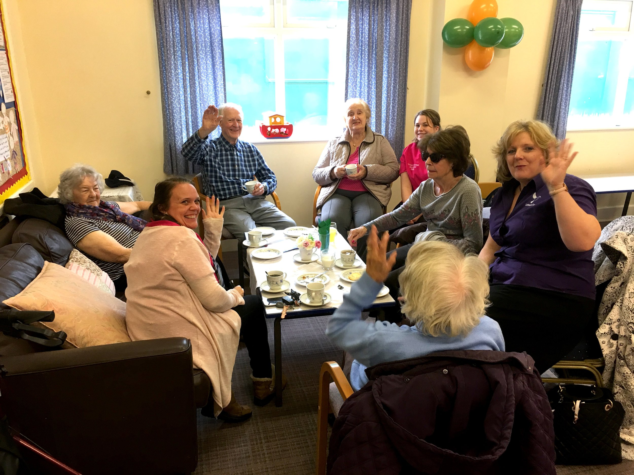 Coffee, cake and chat! A great mixture!
