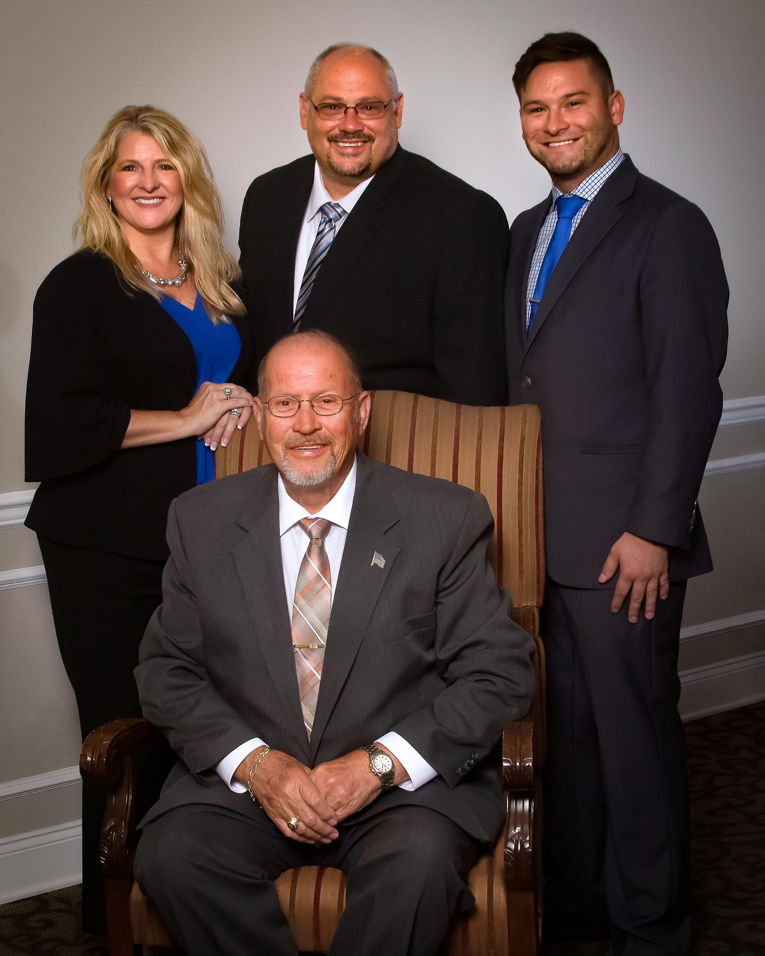 Larry Fortenberry, seated, Dawn Knox, Lynn Fortenberry and Brad Fortenberry.  D&F Equipment Sales, Inc. owners