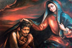 Mary with Juan Diego