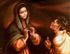 Mary talking to Juan Diego