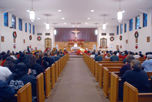 View inside Church