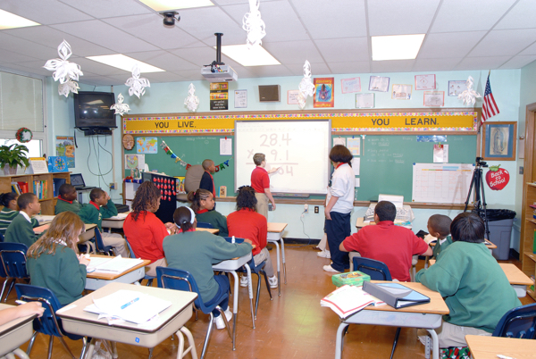 Classroom with smartboard by Martin 128