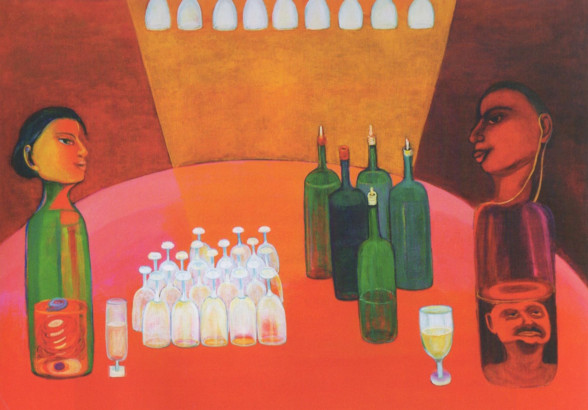 """Reincarnation into a Hallucinogenic World"" by Aradhna Tandon - Oil on Canvas"
