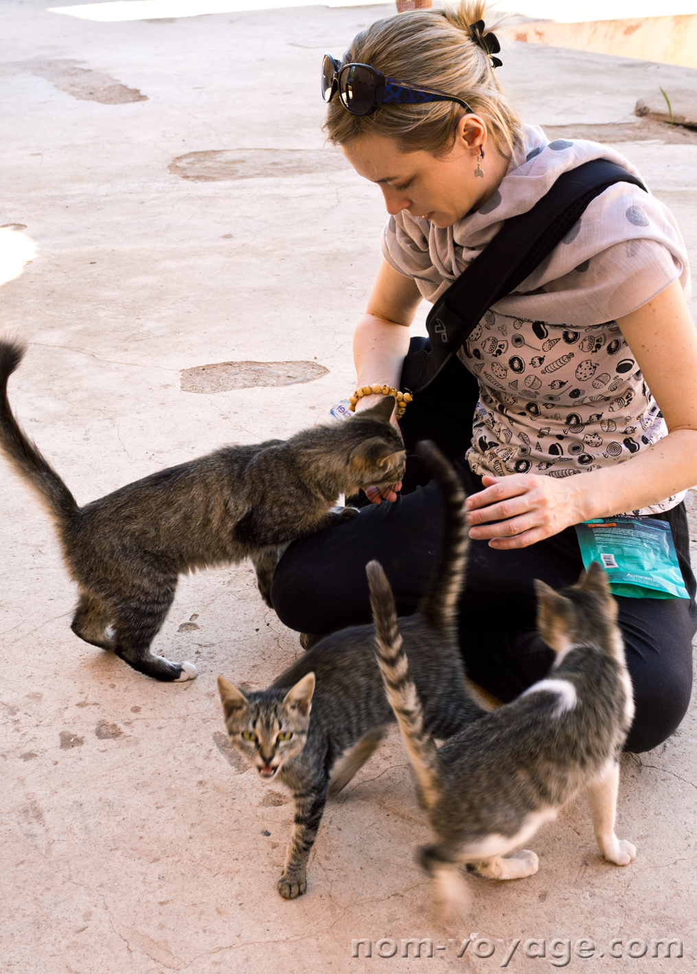 As soon as the treat bag came out at El Badi, we made some very good friends.