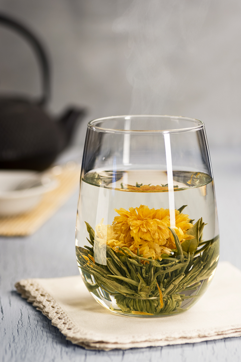 Hot Blooming Flower Tea