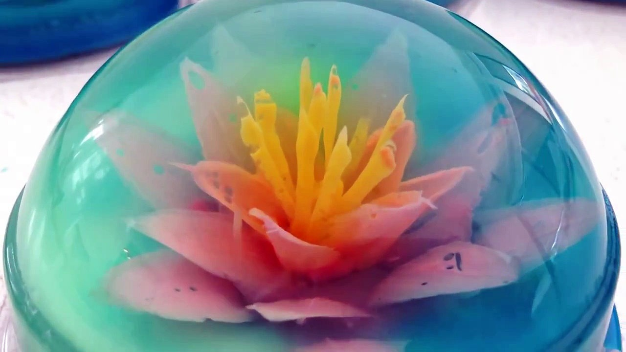 Jelly Art Flower Cake from the internet. One of those desserts that looks absolutely gorgeous, but everyone says it's pretty bland and underwhelming and makes a better paperweight than a cake.