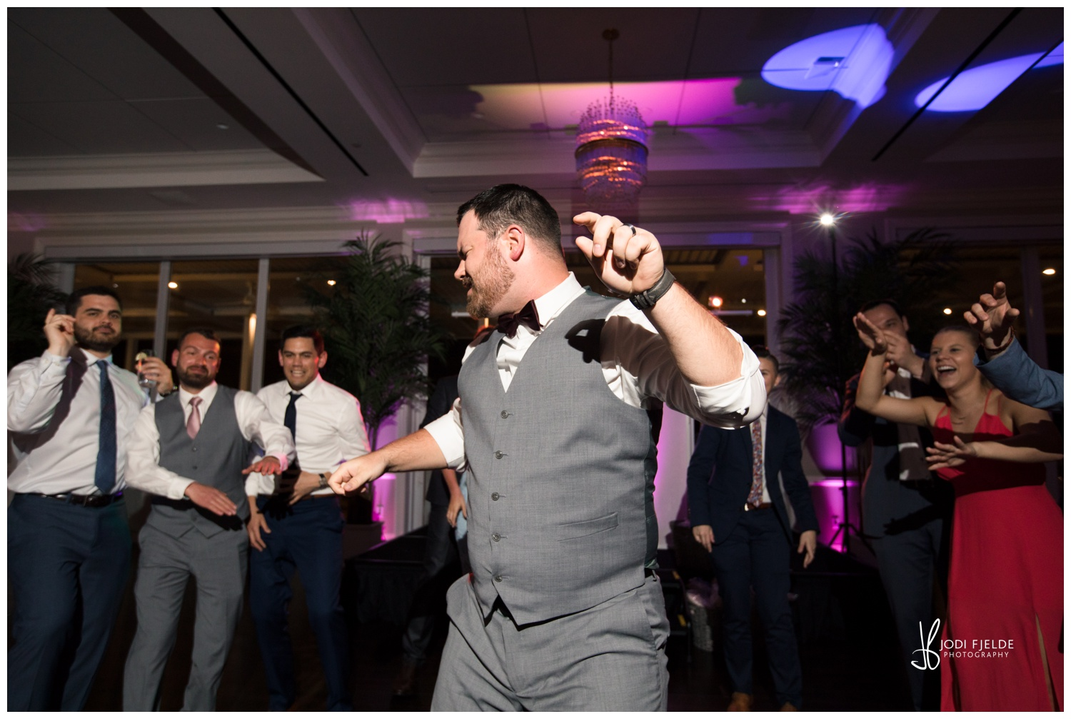 groom getting down to some great music