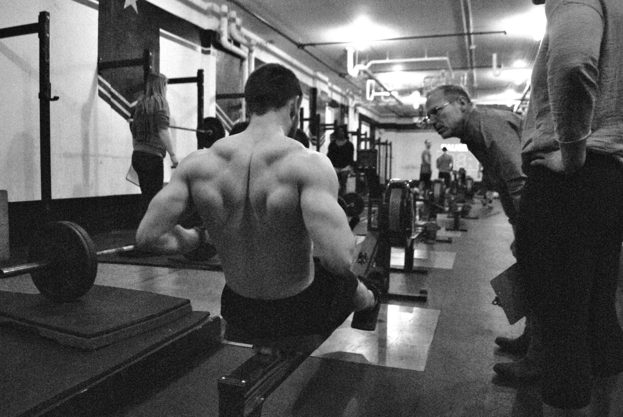 I suffered through the misery of 15.5 and all I got was this sweet photo of my upper back on the rower.