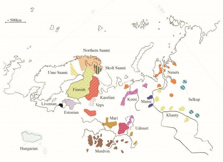 Uralilaisten kielten puhuma-alueet