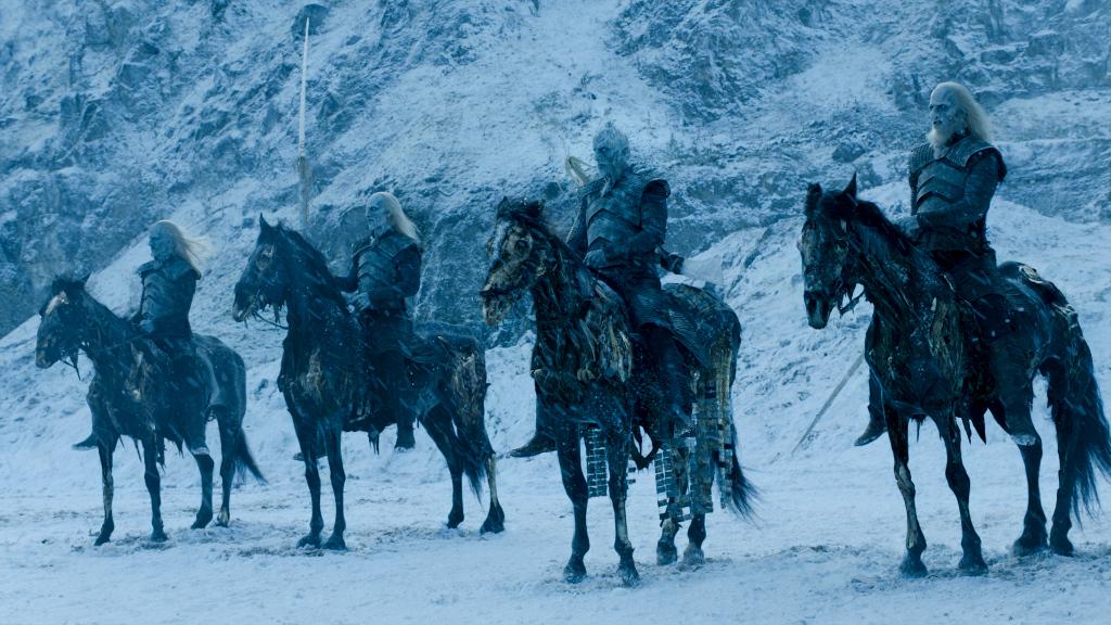 Suosittu TV sarja Game of Thrones kuvaa Pohjolassa asuvan kuolleiden armeijan sinisilmäisiksi, vaaleaihoisiksi ja - hiuksisiksi soturinoidiksi.