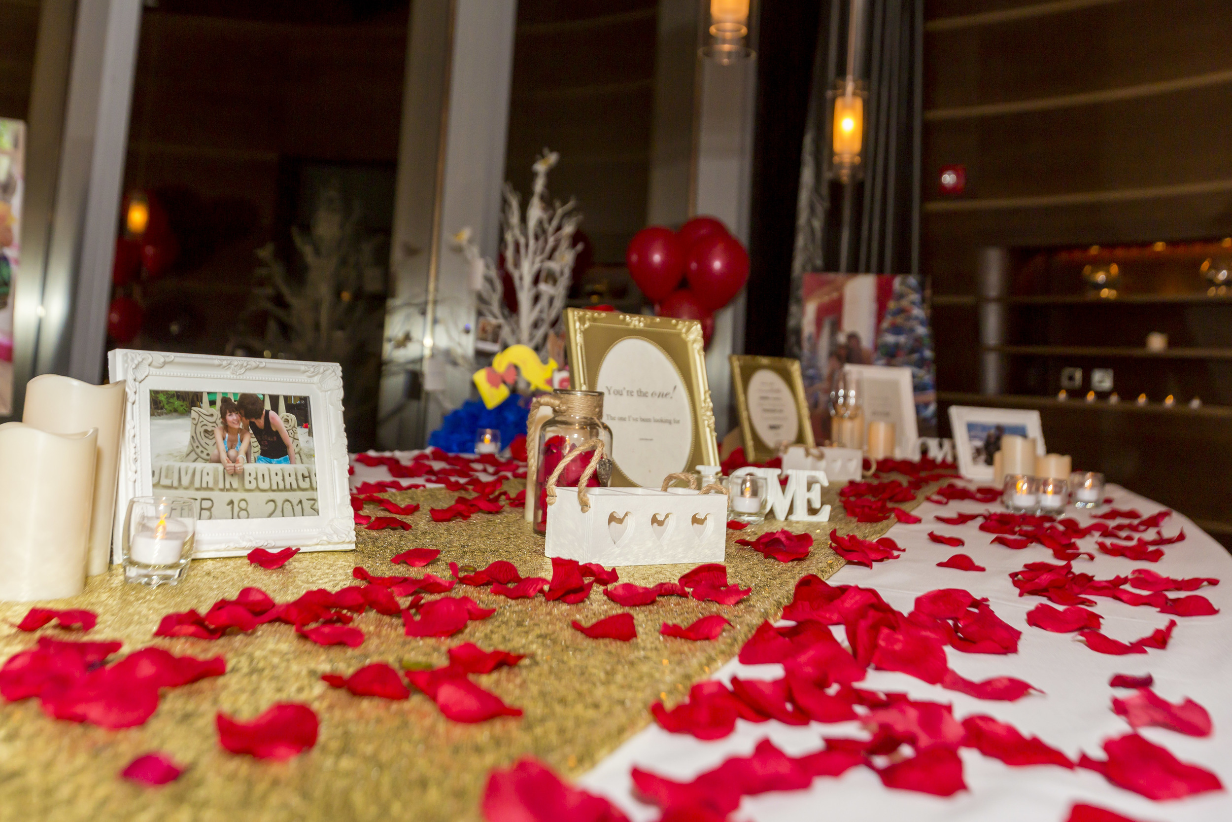 Our romantic table setup