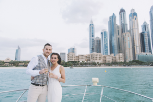 """""""The service I received was second to none. Always replied to emails quickly and was always very helpful and was full of ideas.We were complety blown away by the whole proposal.The yacht and the setting were something that only dreams are made of!... Just perfect""""  Jon, UK"""