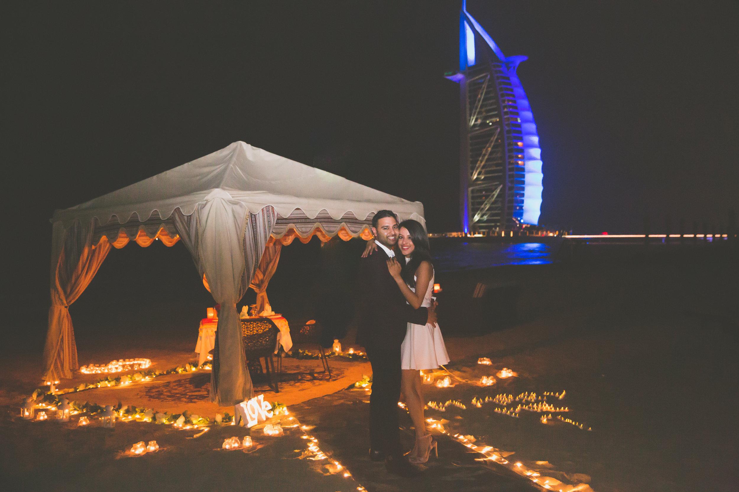 Beach Proposal in Dubai