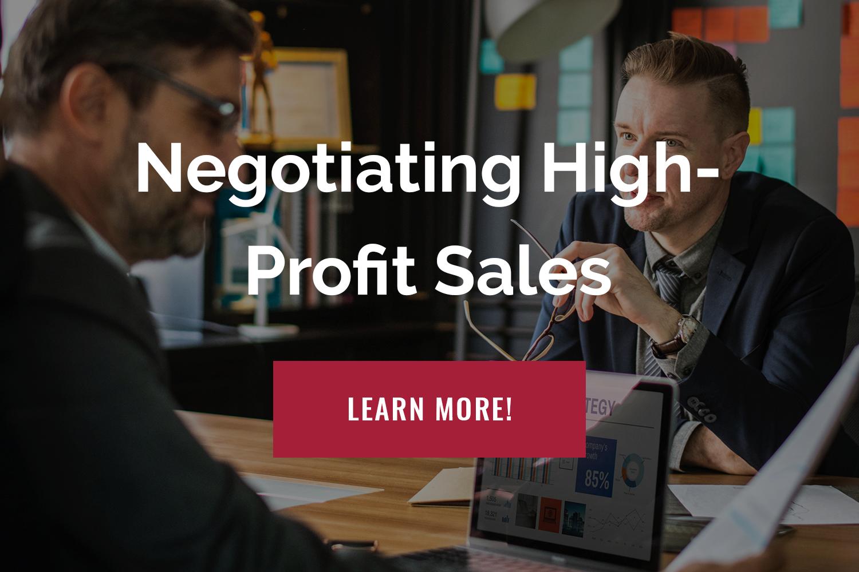 Negotiating High-Profit Sales, Negotiation Training Course