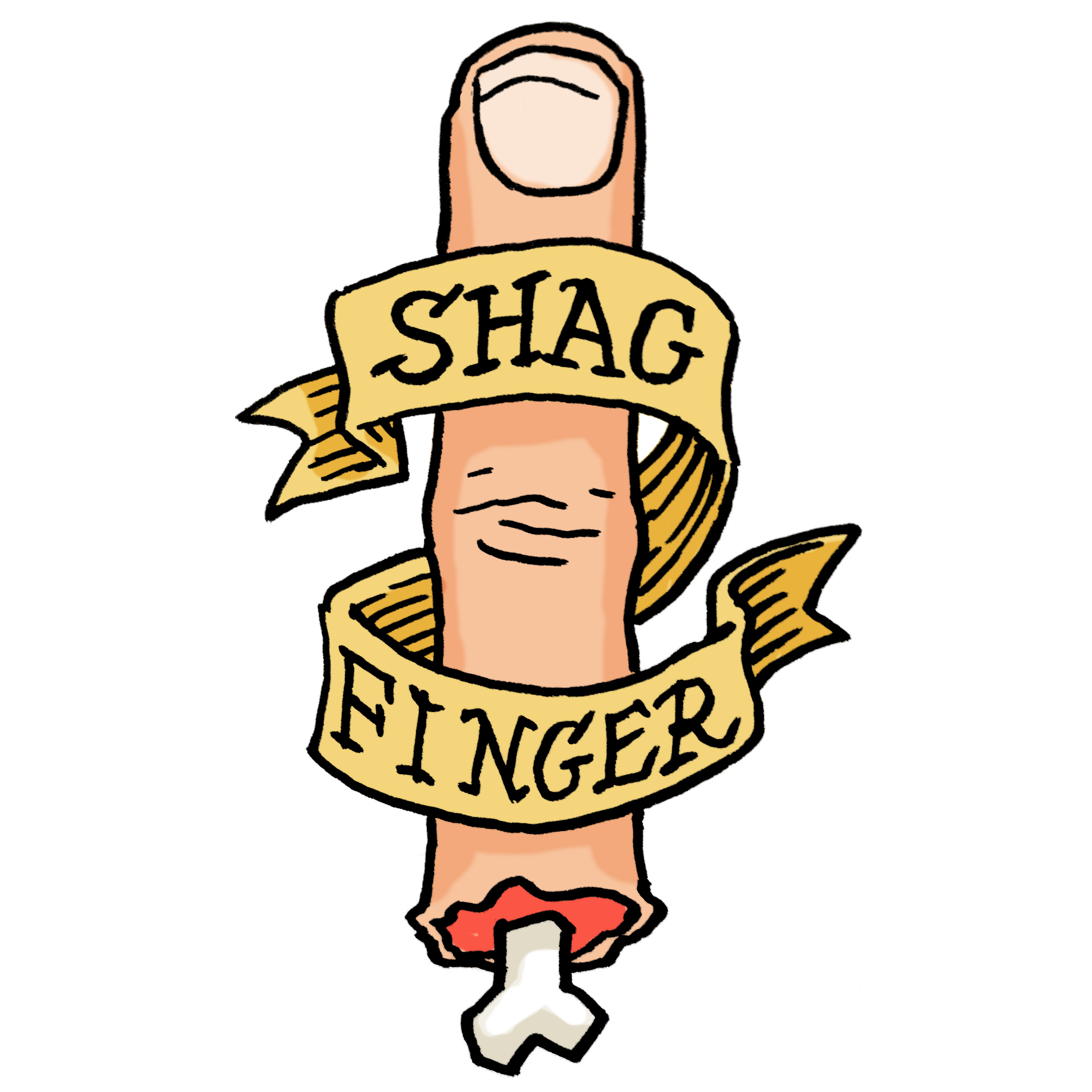 'Shag Finger' tattoo design