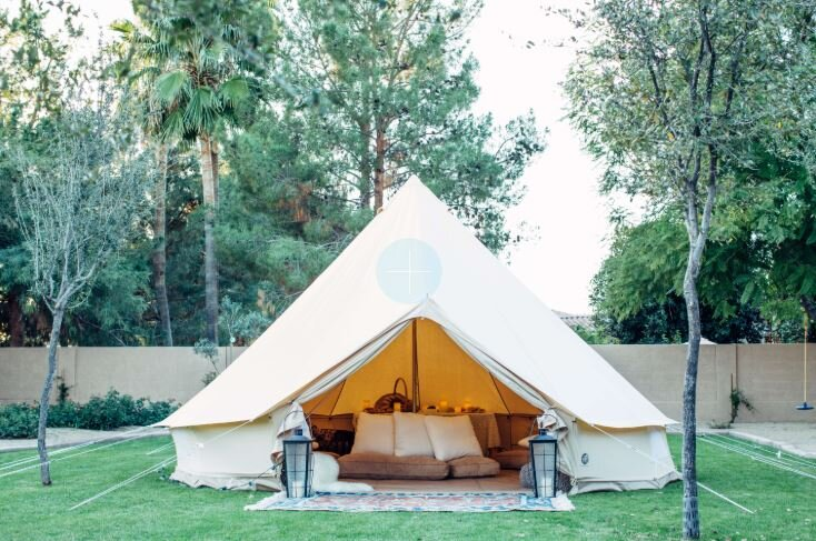 (Note: not my backyard but it IS the tent that will be in my backyard!)