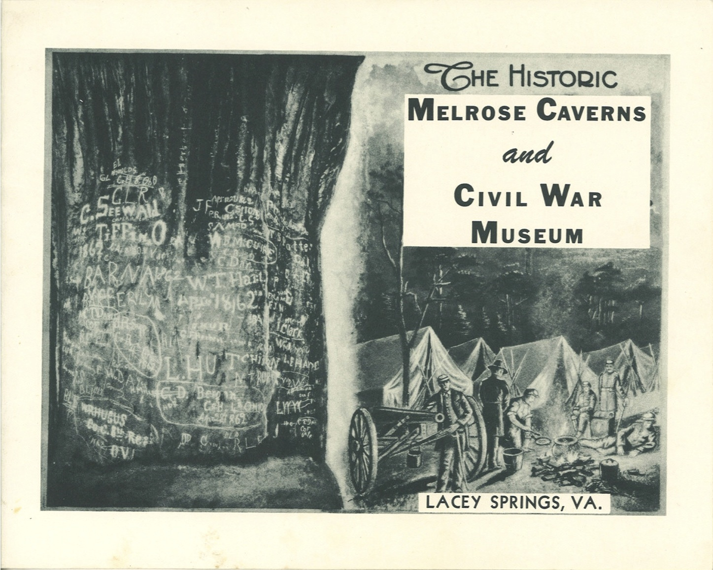 Booklet from Melrose Caverns circa 1940.